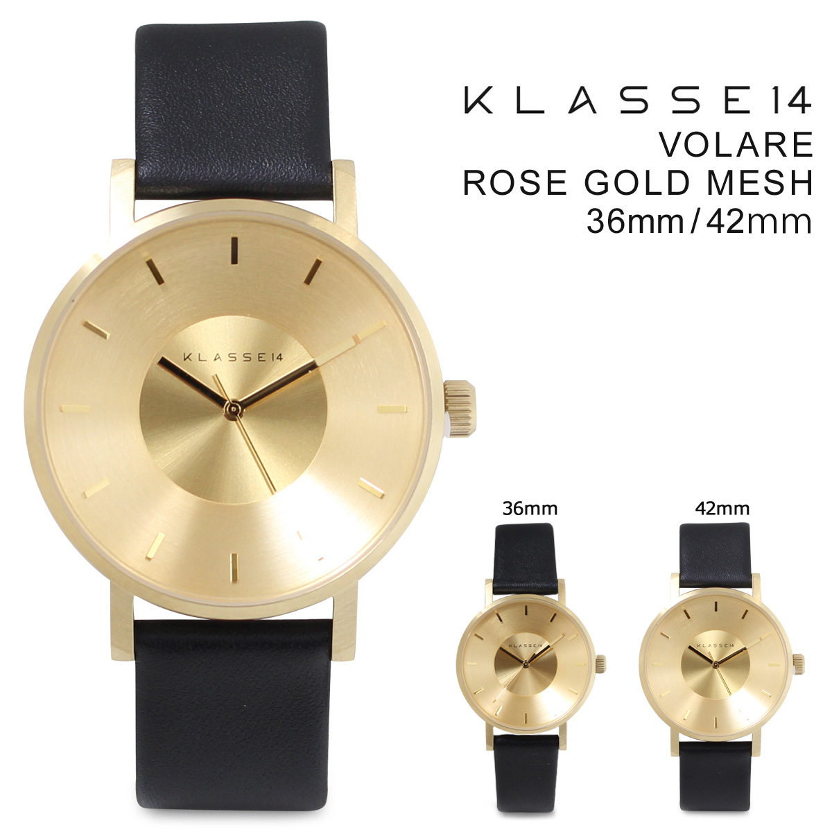 KLASSE14 メンズ クラス14 42mm 36mm レディース 腕時計 VOLARE GOLD ヴォラーレ VO14GD001M VO14GD001W