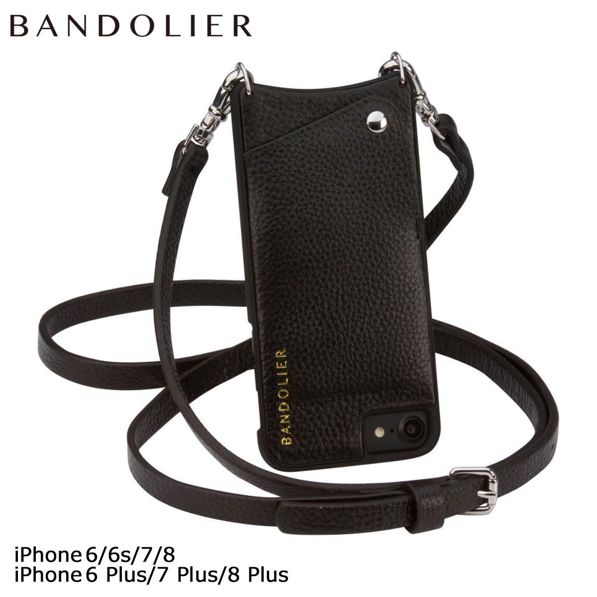 バンドリヤー BANDOLIER iPhone SE 8 7 6 6s/Plus ケース スマホ 携帯 アイフォン プラス EMMA レザー メンズ レディース