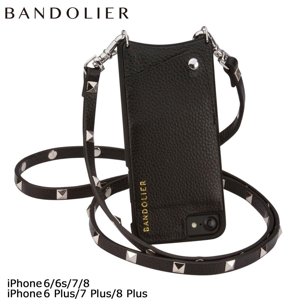 バンドリヤー BANDOLIER iPhone8 iPhone7 7Plus 6s ケース スマホ アイフォン プラス SARAH レザー スタッズ メンズ レディース