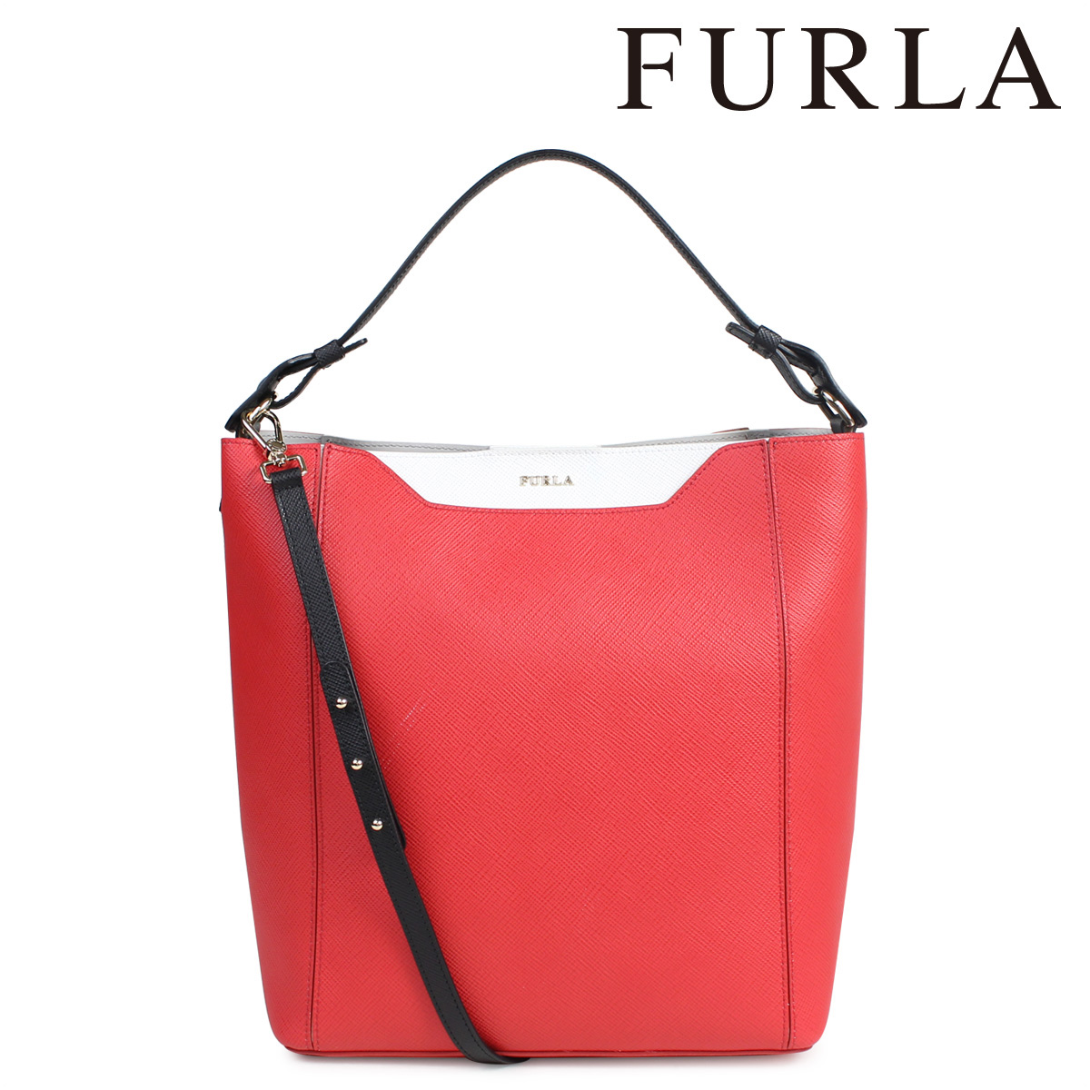 FURLA フルラ バッグ ショルダー ハンドバッグ レディース レッド 赤 FANTASIA 800781