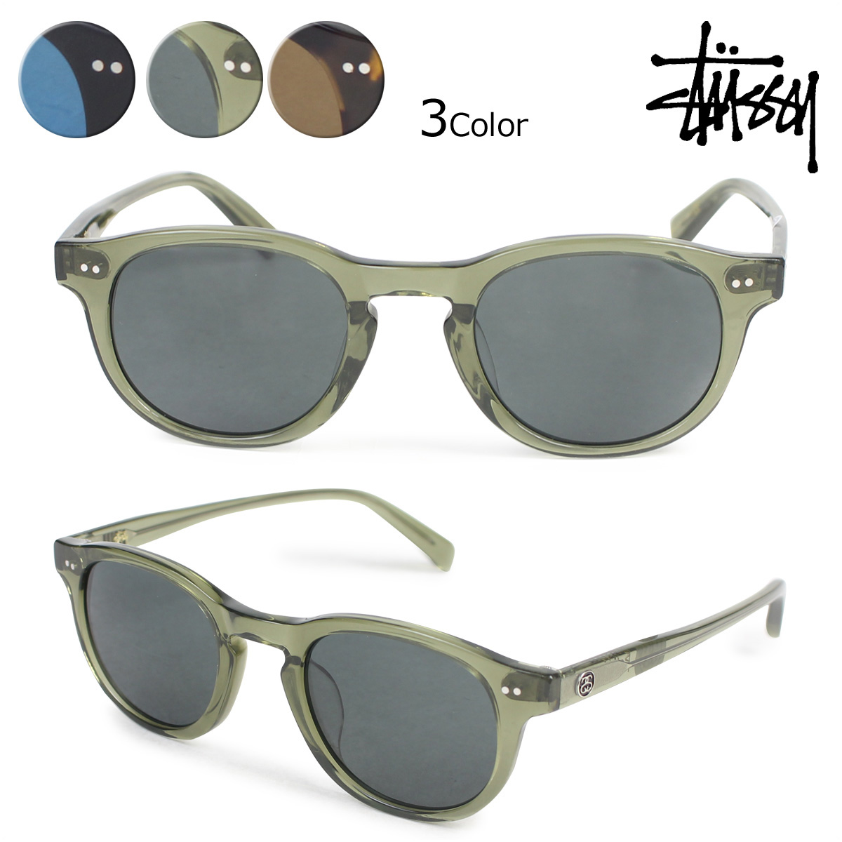 7d24ad5b2b Sugar Online Shop  ステューシー STUSSY sunglasses men gap Dis UV cut Romeo ROMEO  EYEGEAR 140015 3 color  6 16 Shinnyu load