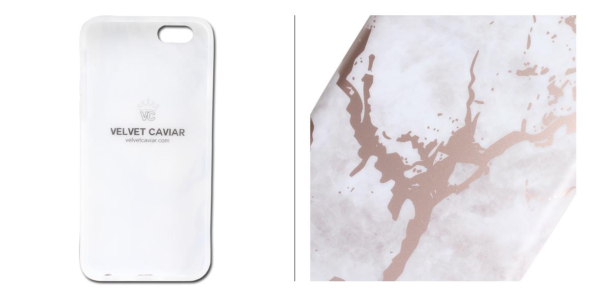 Velvet Velvet Caviar Caviar Iphone 8 7 6 6s Case Smartphone Carrying Eyephone Iphone Velvet White Marble Rose Gold Chrome Iphone Case Ladys White