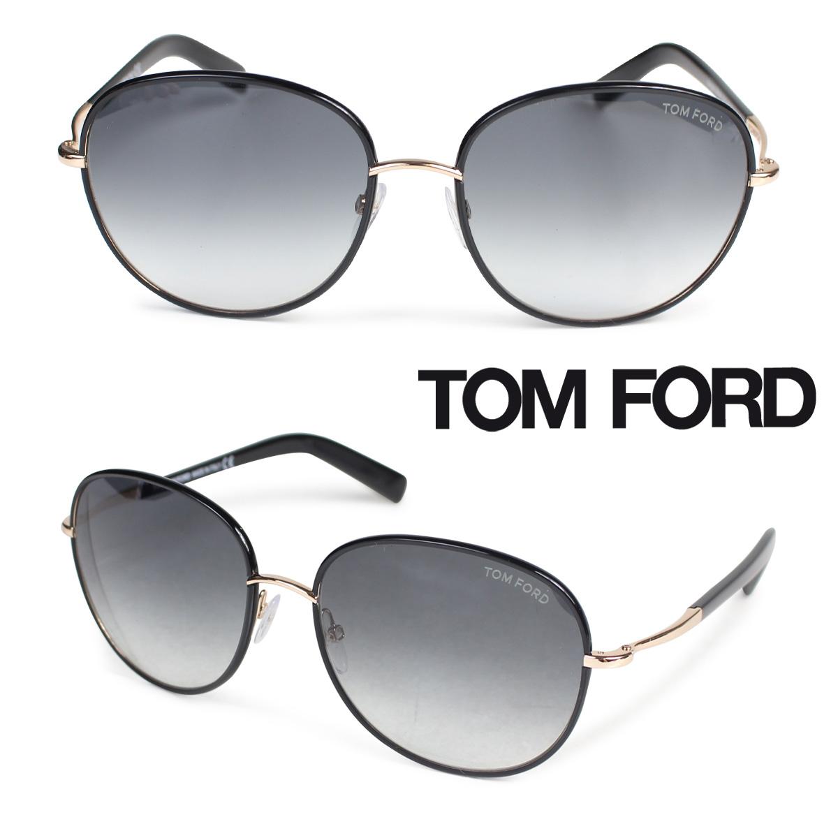 TOM FORD トムフォード サングラス メガネ メンズ レディース アイウェア FT0498 GEORGIA SUNGLASSES ブラック 黒