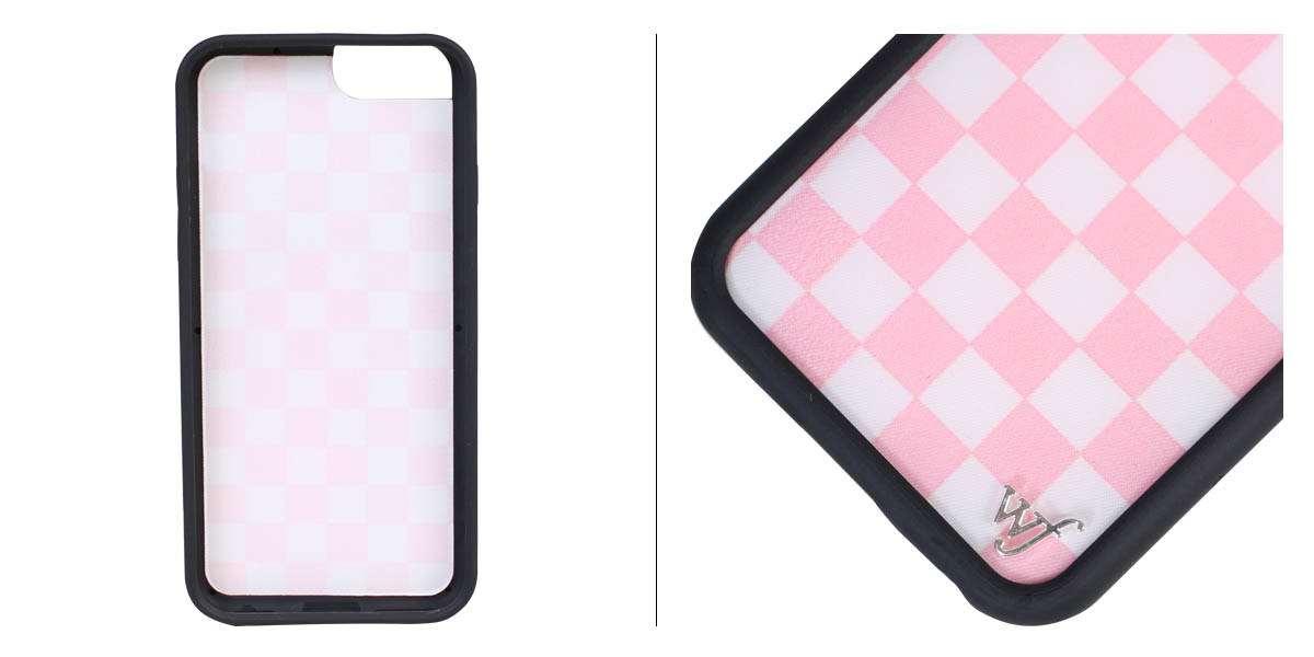 huge selection of bd613 2b402 Wild flower wildflower iPhone8 7 iPhone case 6 6s smartphone eyephone  Lady's checker pink PCHE