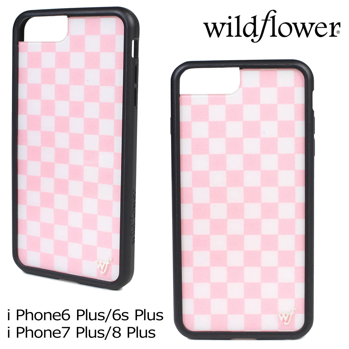 the best attitude 356d7 33110 Wild flower wildflower iPhone8 7 iPhone case 6 6s Plus smartphone eyephone  Lady's checker pink PCHE