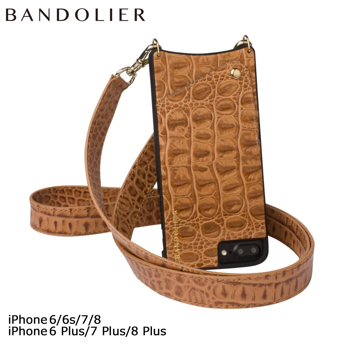 バンドリヤー BANDOLIER iPhone8 iPhone7 7Plus 6s ケース スマホ アイフォン プラス ANGELA FALL17 レザー メンズ レディース