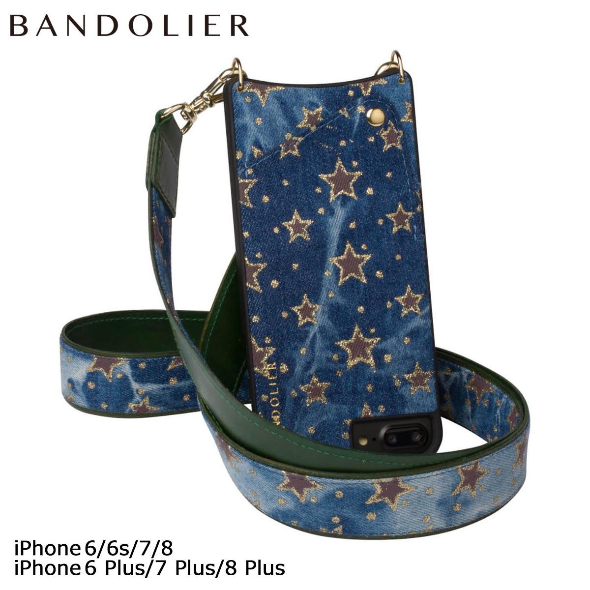 バンドリヤー BANDOLIER iPhone8 iPhone7 7Plus 6s ケース スマホ アイフォン プラス ANGELA FALL17 レザー デニム メンズ レディース