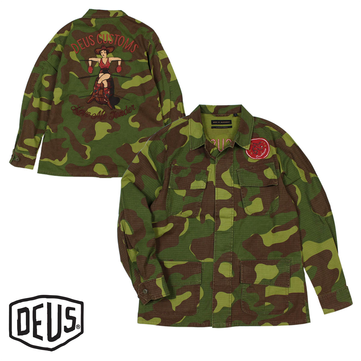 Deus ex Machina デウスエクスマキナ シャツ 長袖 メンズ シャツジャケット TRAVIS CAMO OVERSHIRT カモフラージュ 【決算セール 返品不可】
