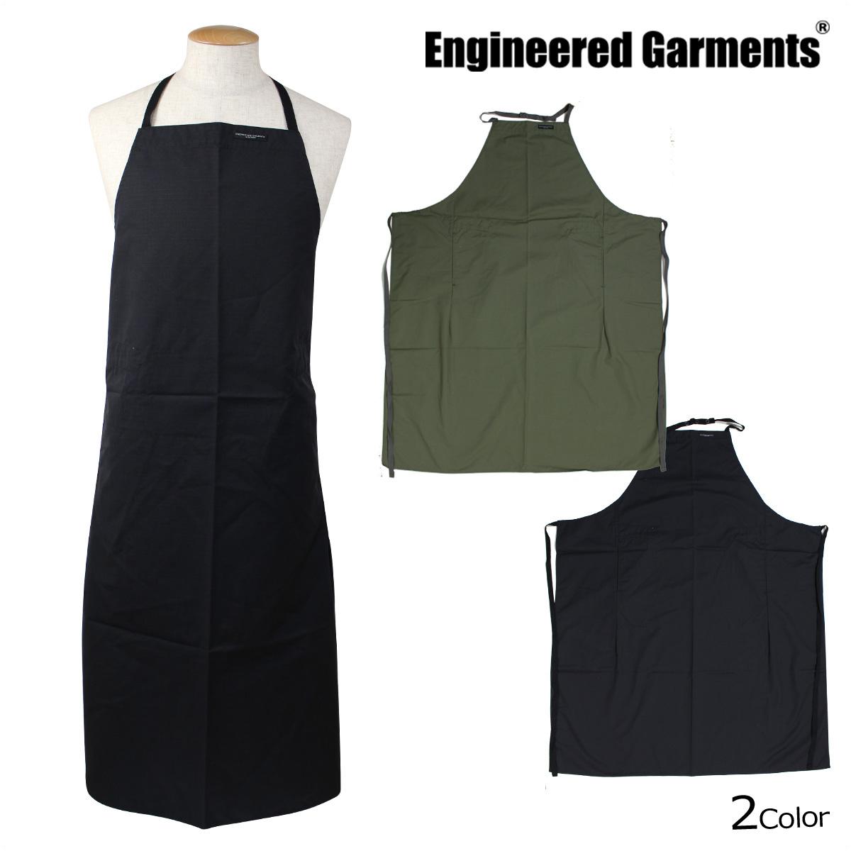 ENGINEERED GARMENTS エンジニアードガーメンツ エプロン 大きいサイズ レディース メンズ 無地 ロング 丈 NEW LONG APRON F7H0661 F7H0663 カーキ ブラック 黒