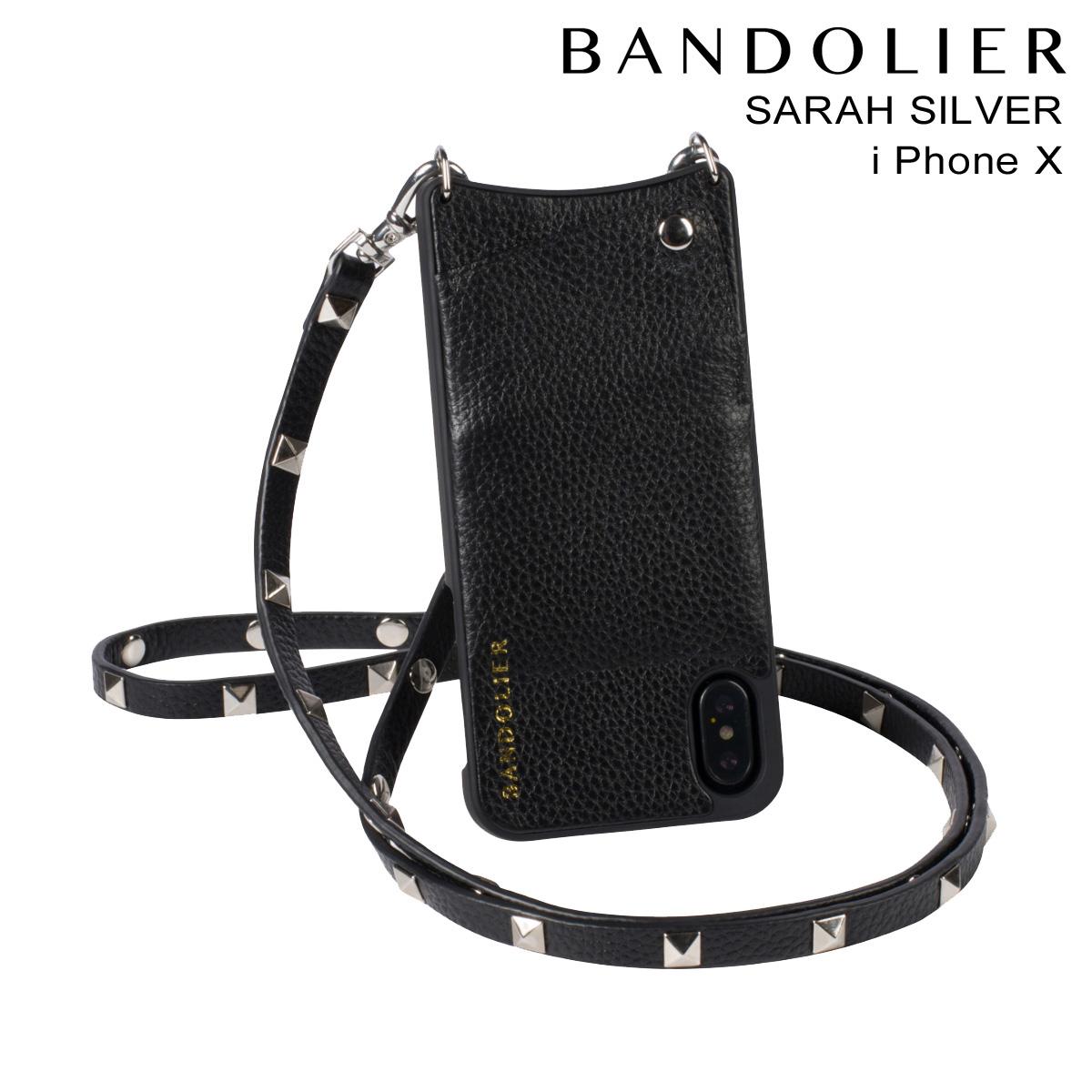 バンドリヤー BANDOLIER iPhone X ケース スマホ 携帯 アイフォン SARAH SILVER レザー メンズ レディース