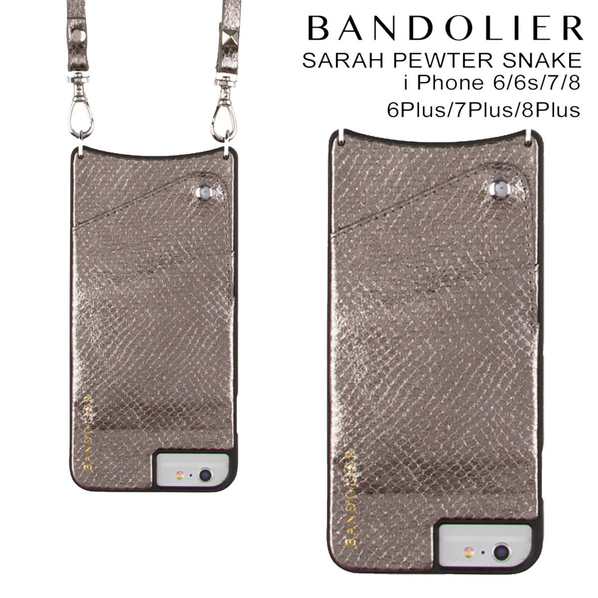 バンドリヤー BANDOLIER iPhone8 iPhone7 7Plus 6s ケース スマホ アイフォン プラス SARAH PEWTER SNAKE シルバー