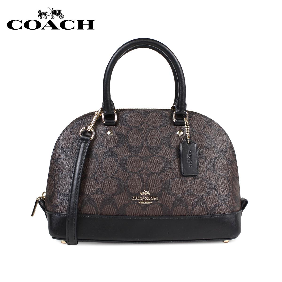 dd95bc2b2 COACH coach bag shoulder bag Lady's MINI SIERRA SATCHEL IN SIGNATURE COATED  CANVAS F59295 brown ...