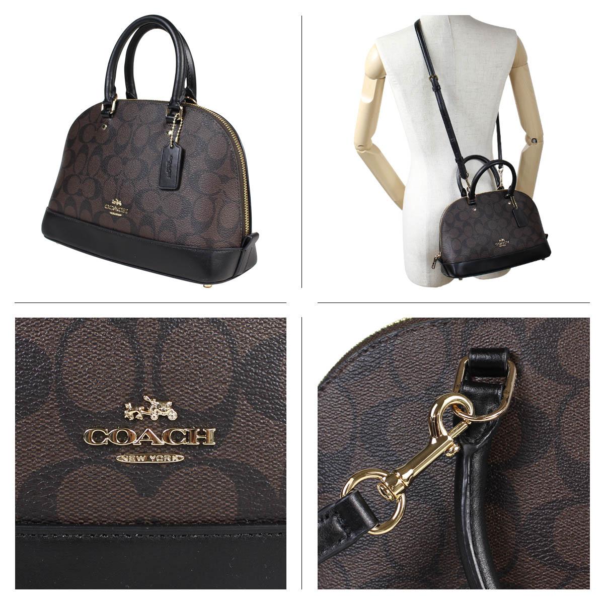 4bf10cf44bd9 COACH coach bag shoulder bag Lady s MINI SIERRA SATCHEL IN SIGNATURE COATED  CANVAS F59295 brown  11 13 Shinnyu load