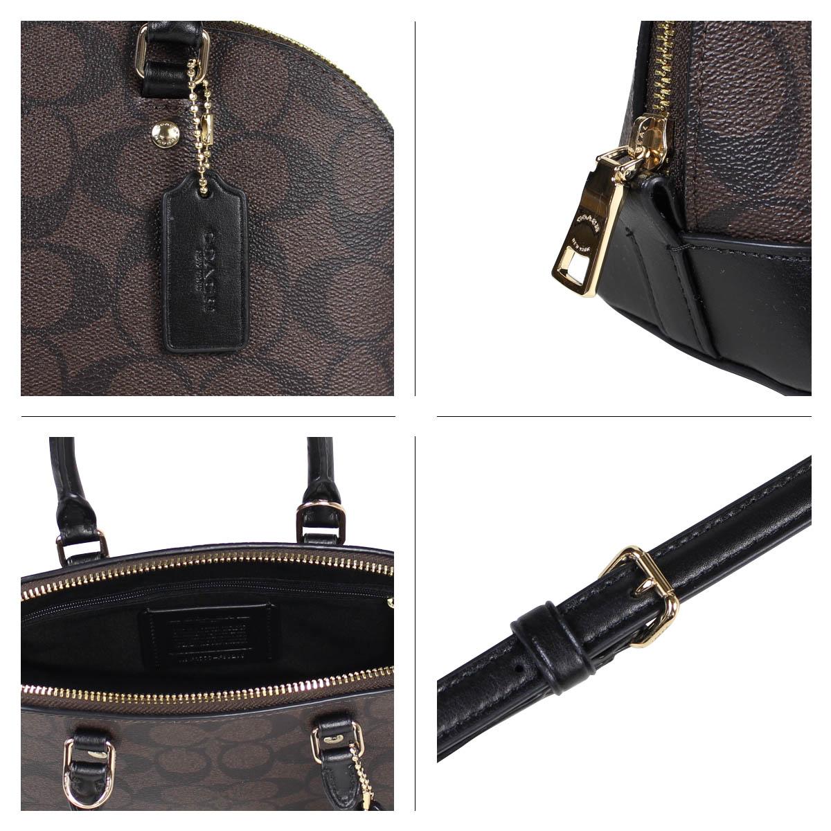8f4b62b80 ... COACH coach bag shoulder bag Lady's MINI SIERRA SATCHEL IN SIGNATURE  COATED CANVAS F59295 brown