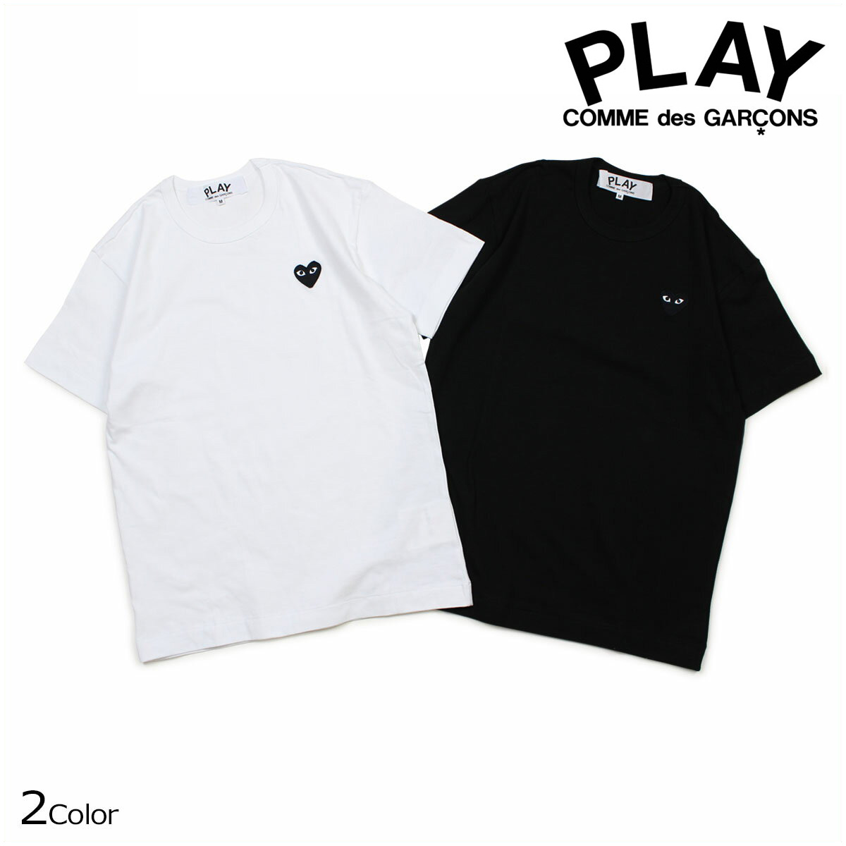 a7bae5e4758c COMME des GARCONS PLAY T-shirt short sleeves コムデギャルソンメンズ BLACK HEART T-SHIRT  black white AZT064