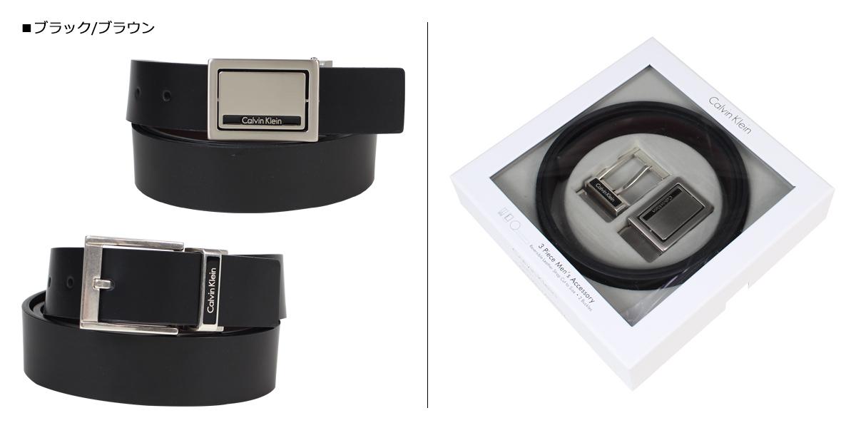 eee41663ffc Calvin Klein belt Calvin Klein men genuine leather belt set reversible  buckle CK business black brown 74203  12 20 Shinnyu load