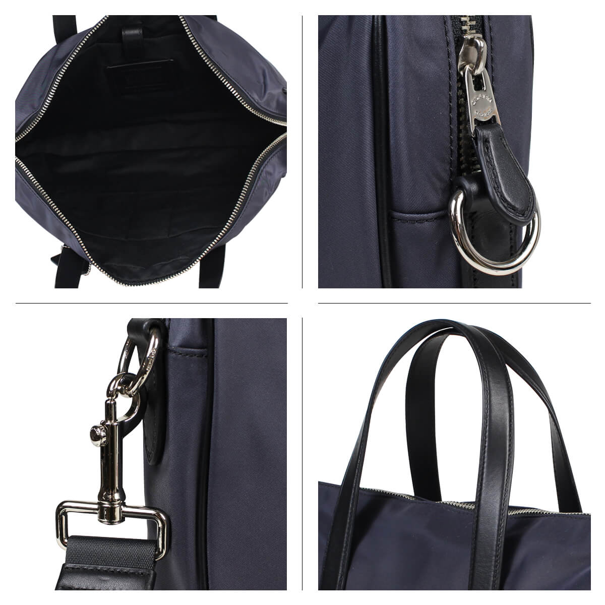 912af364 COACH coach bag business bag men briefcase CHARLES SLIM BRIEF F21087 navy