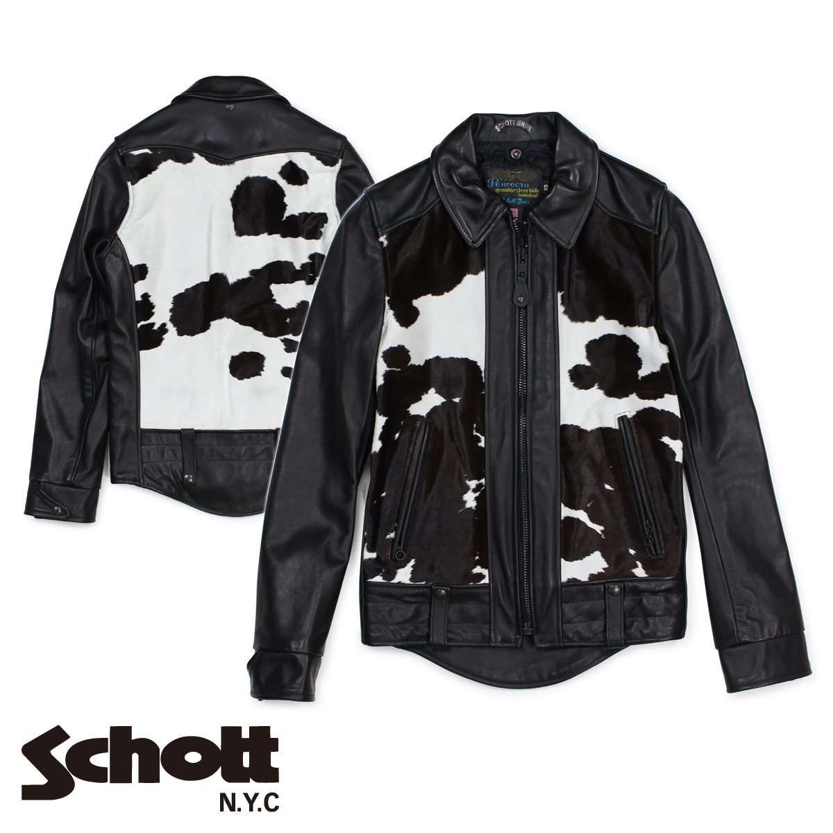 Schott ショット ライダースジャケット ジャケット レザージャケット メンズ EL CAMINO 50S WEST COAST BIKER JACKET ブラック 黒 P6422