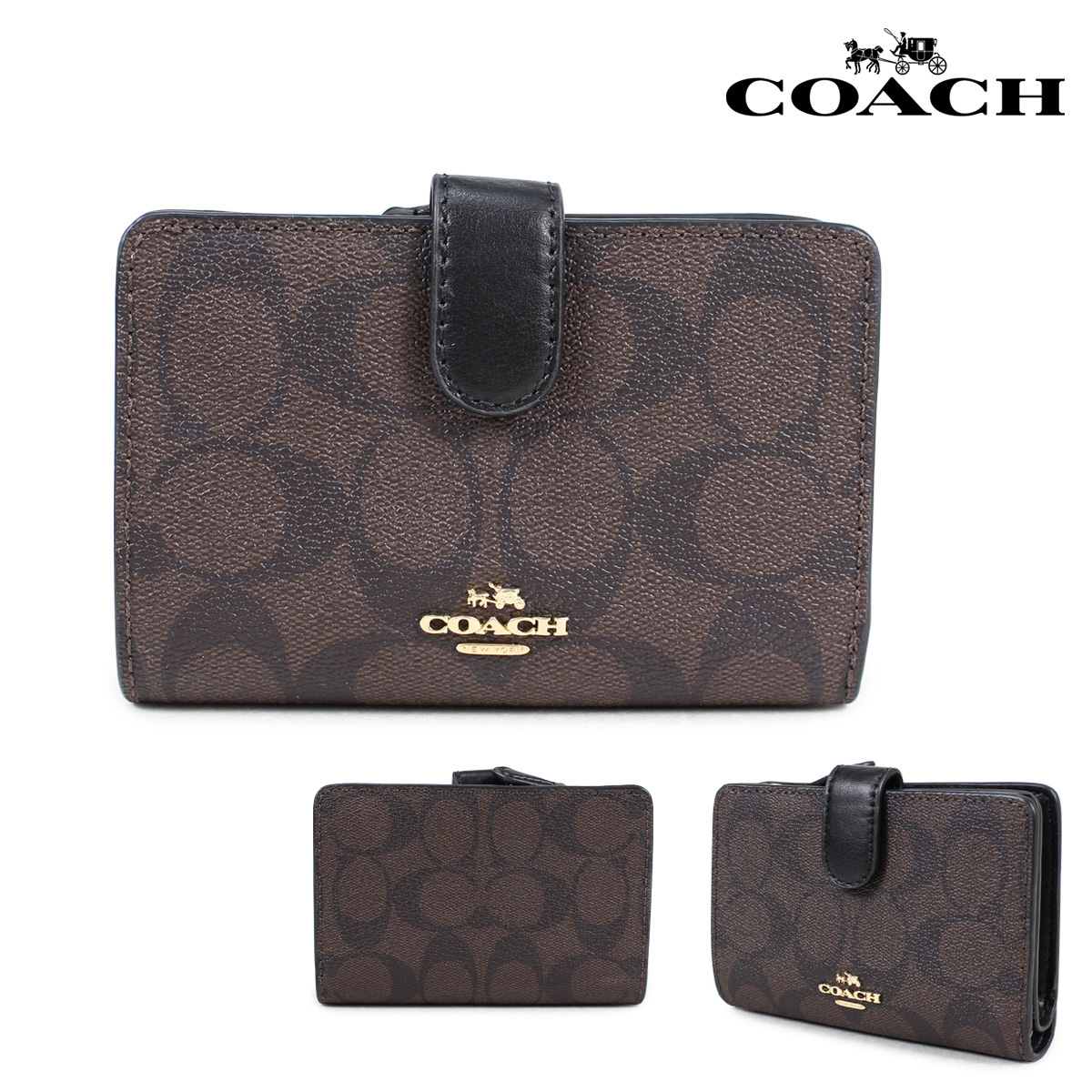best sneakers d52ca 8665d official store brown coach wallet b481e ca4ca