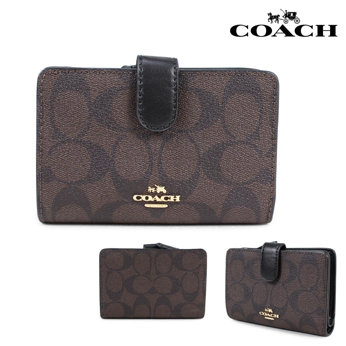 COACH コーチ 財布 二つ折り レディース レザー ブラウン F23553