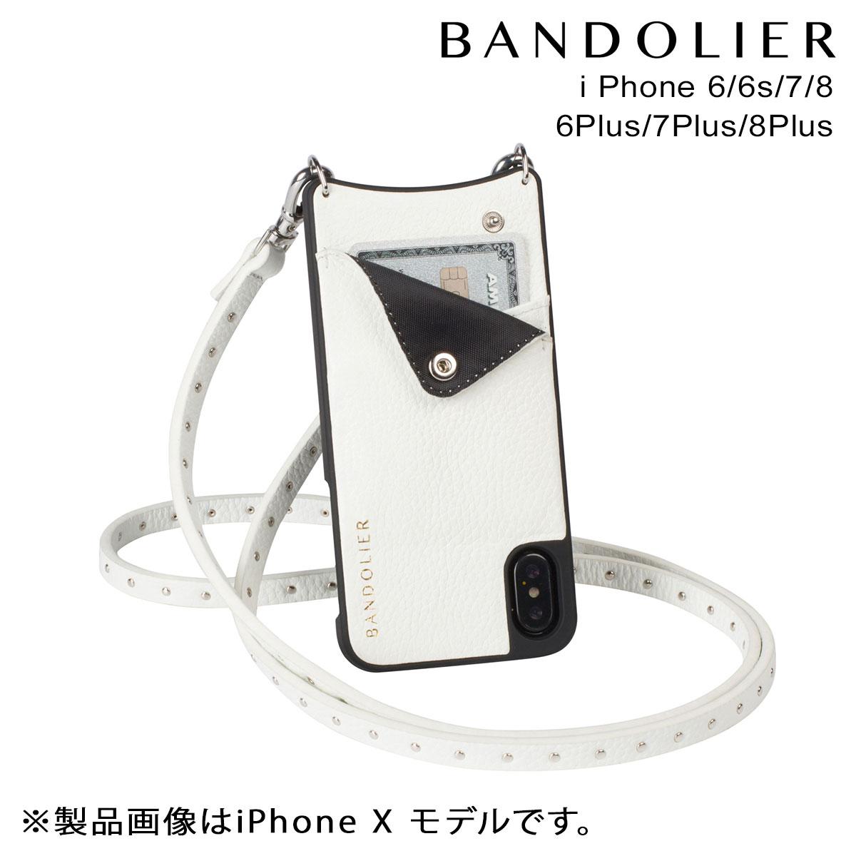 高い品質 バンドリヤー BANDOLIER プラス [9/14 iPhone8 iPhone7 7Plus 6s 6s ケース スマホ アイフォン プラス NATALIE WHITE レザー メンズ レディース [9/14 追加入荷], B&BLife:d469fbbf --- canoncity.azurewebsites.net