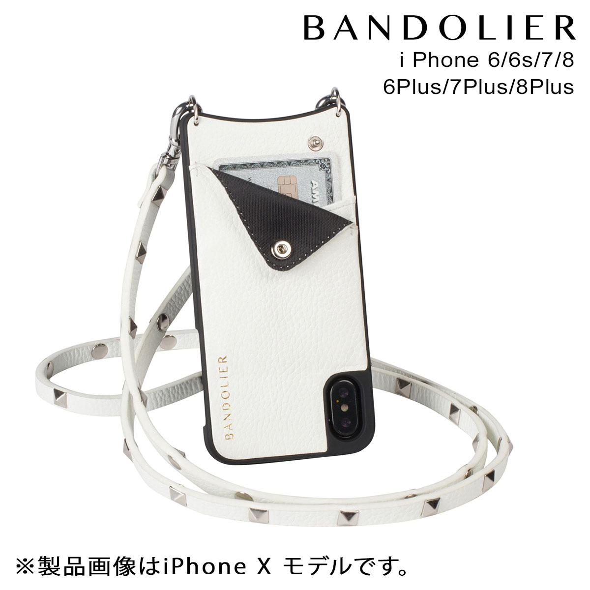 バンドリヤー BANDOLIER iPhone8 iPhone7 7Plus 6s ケース スマホ アイフォン プラス SARAH WHITE レザー メンズ レディース [9/14 再入荷]