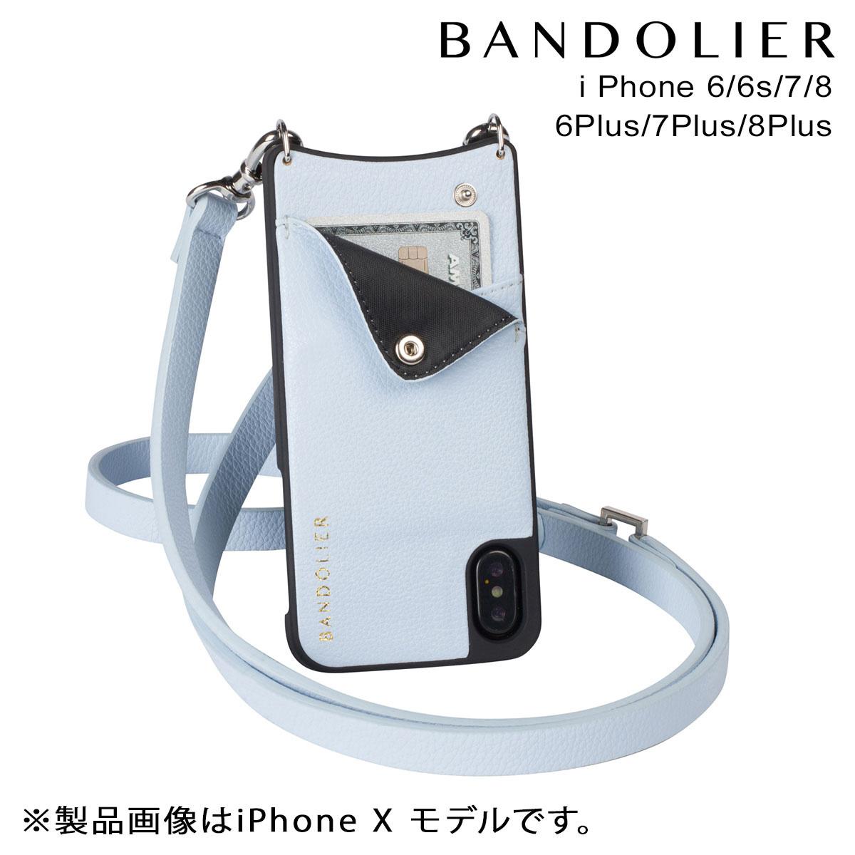 バンドリヤー BANDOLIER iPhone8 iPhone7 7Plus 6s ケース スマホ アイフォン プラス CARLY LIGHT BLUE レザー メンズ レディース 【決算セール 返品不可】