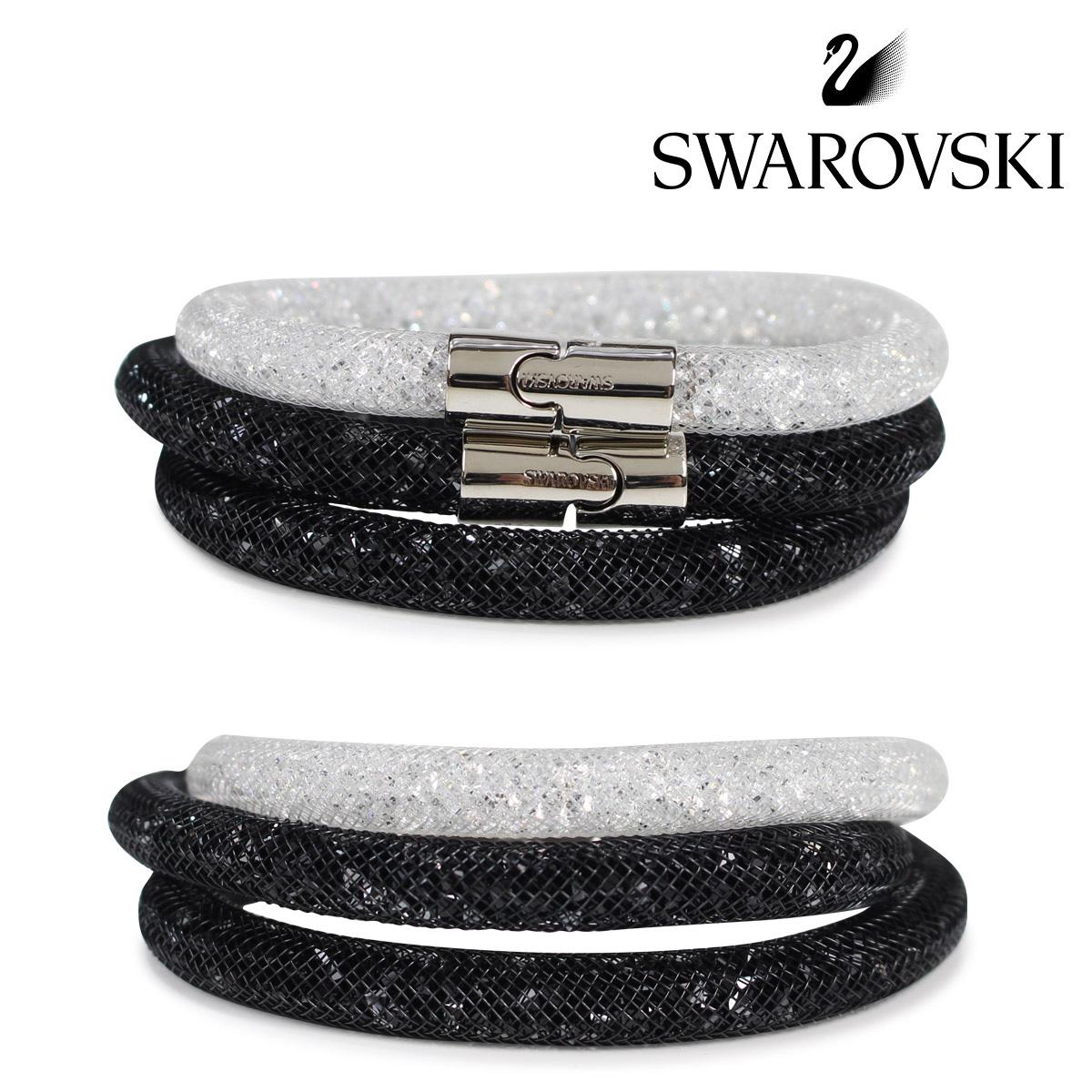 SWAROVSKI スワロフスキー ブレスレット 2本セット レディース STARDUST ブラック ホワイト 5185000 S