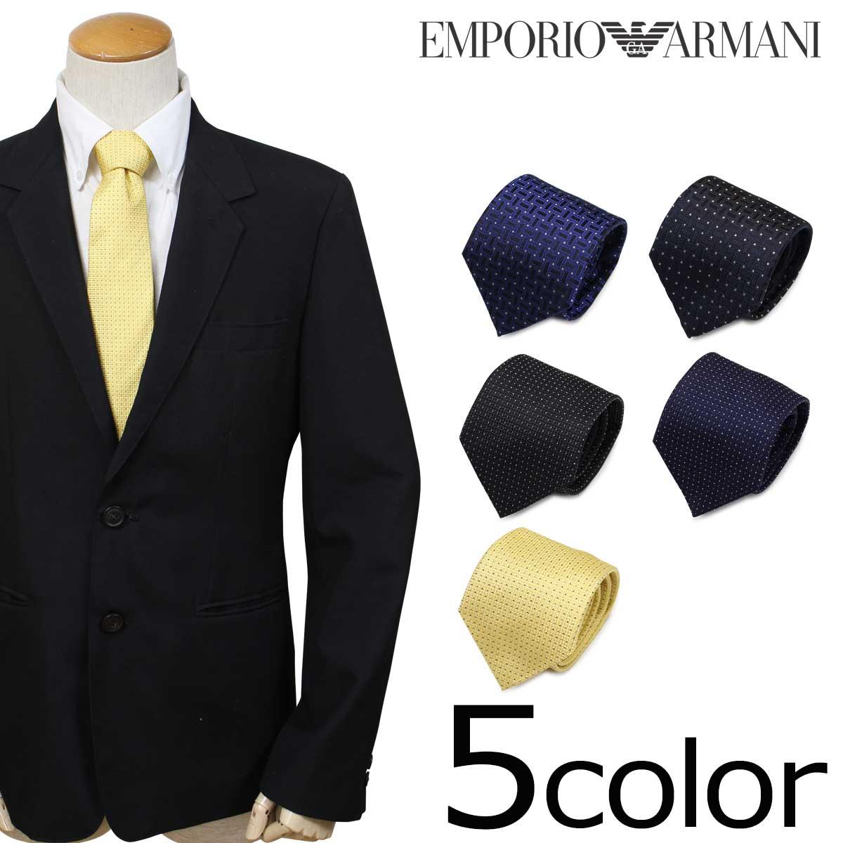EMPORIO ARMANI エンポリオ アルマーニ ネクタイ イタリア製 シルク ビジネス 結婚式 メンズ