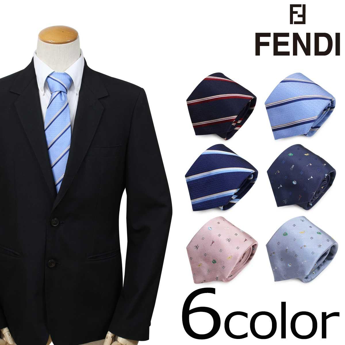 FENDI フェンディ ネクタイ シルク イタリア製 ビジネス 結婚式 メンズ