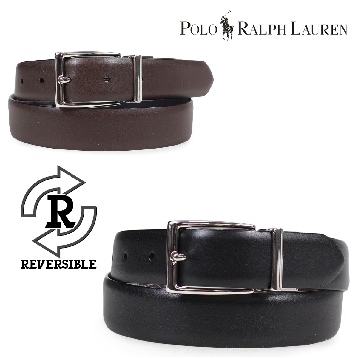 9a14356954a2 POLO RALPH LAUREN belt men genuine leather polo Ralph Lauren leather belt  reversible casual business black brown 405069544C8  3 26 Shinnyu load