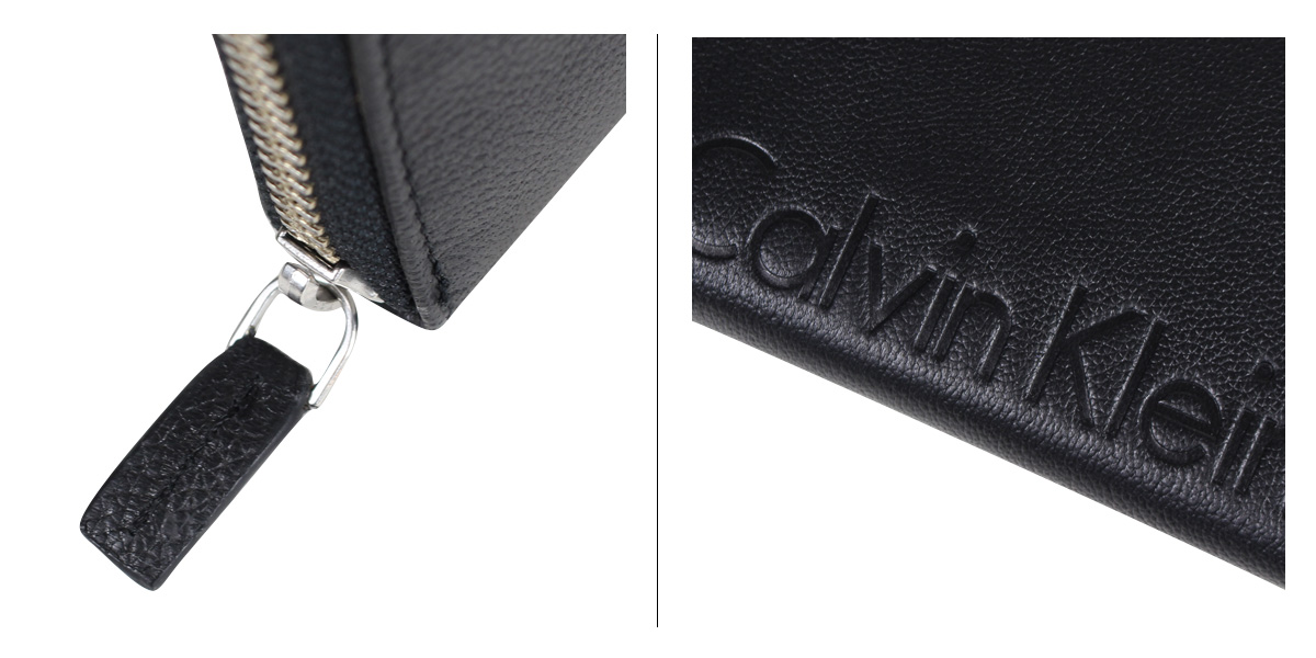 Calvin Klein カルバンクライン 財布 メンズ 長財布 ラウンドファスナー MODERN PEBBLE LOGO ブラック 黒 794746 12 再入荷6f7vIybmYg