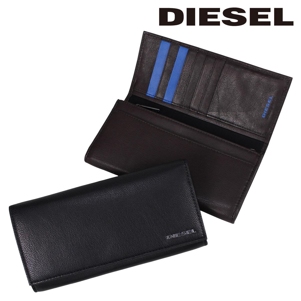 DIESEL 財布 メンズ ディーゼル 長財布 FRESH STARTER 24 A DAY X04457 PR227 ブラック ブラウン