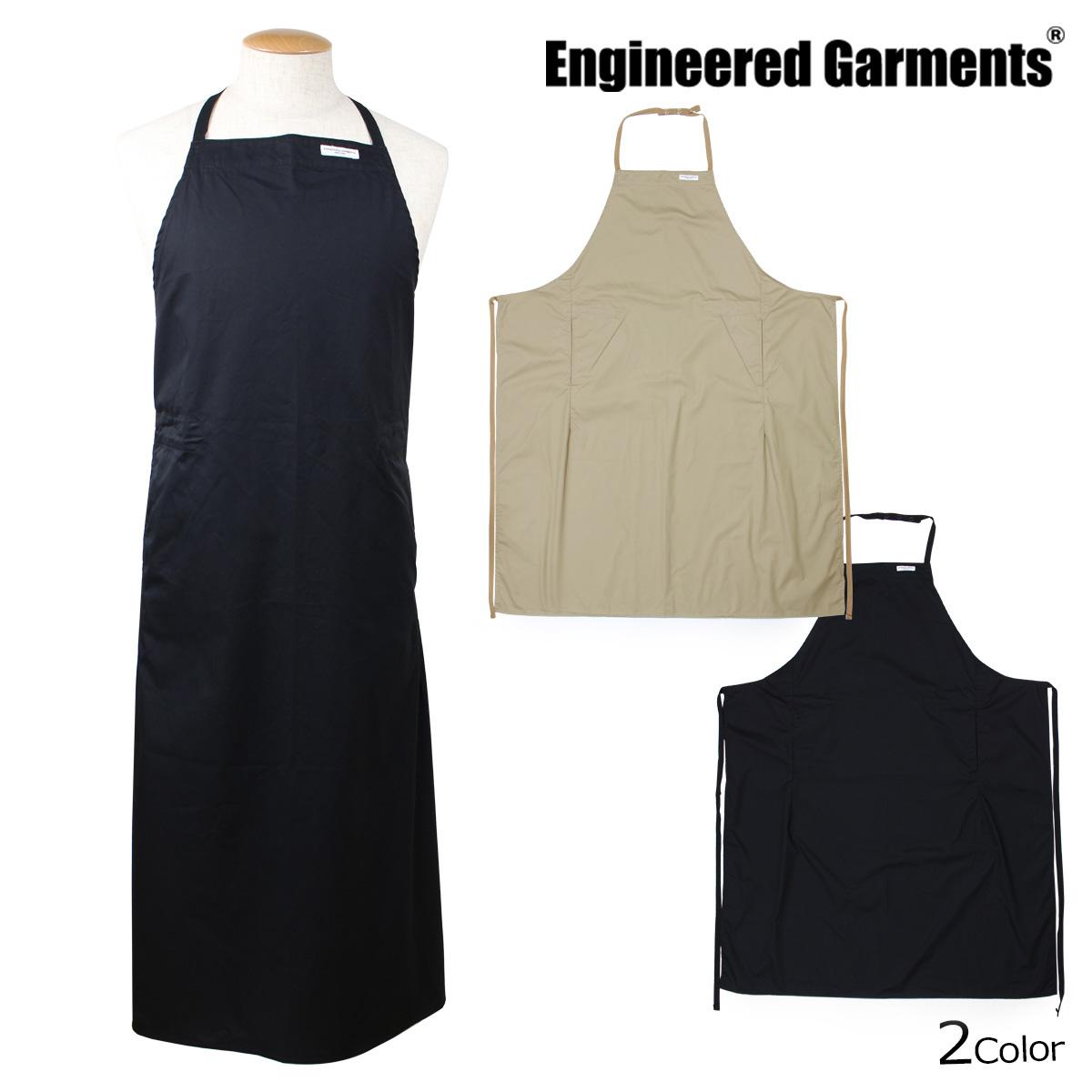 ENGINEERED GARMENTS エンジニアドガーメンツ エプロン 大きいサイズ レディース メンズ NEW LONG APRON ブラック カーキ