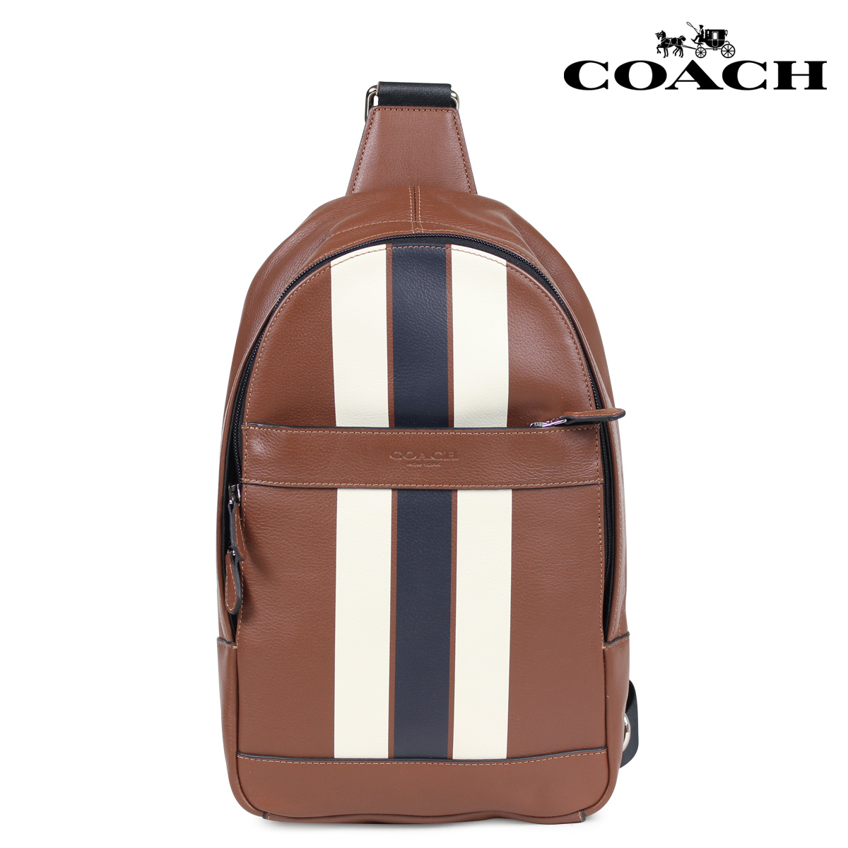 Coach Bag Shoulder Body Men Leather Brown F72226 5 11 Shinnyu Load