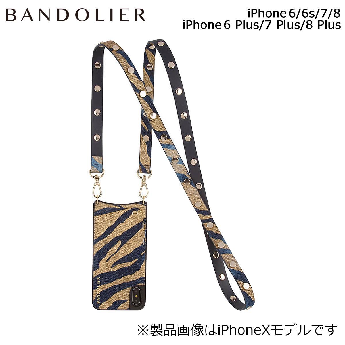 バンドリヤー BANDOLIER iPhone8 iPhone7 7Plus 6s ケース スマホ アイフォン プラス ROMY GOLD DENIM メンズ レディース ゴールドデニム