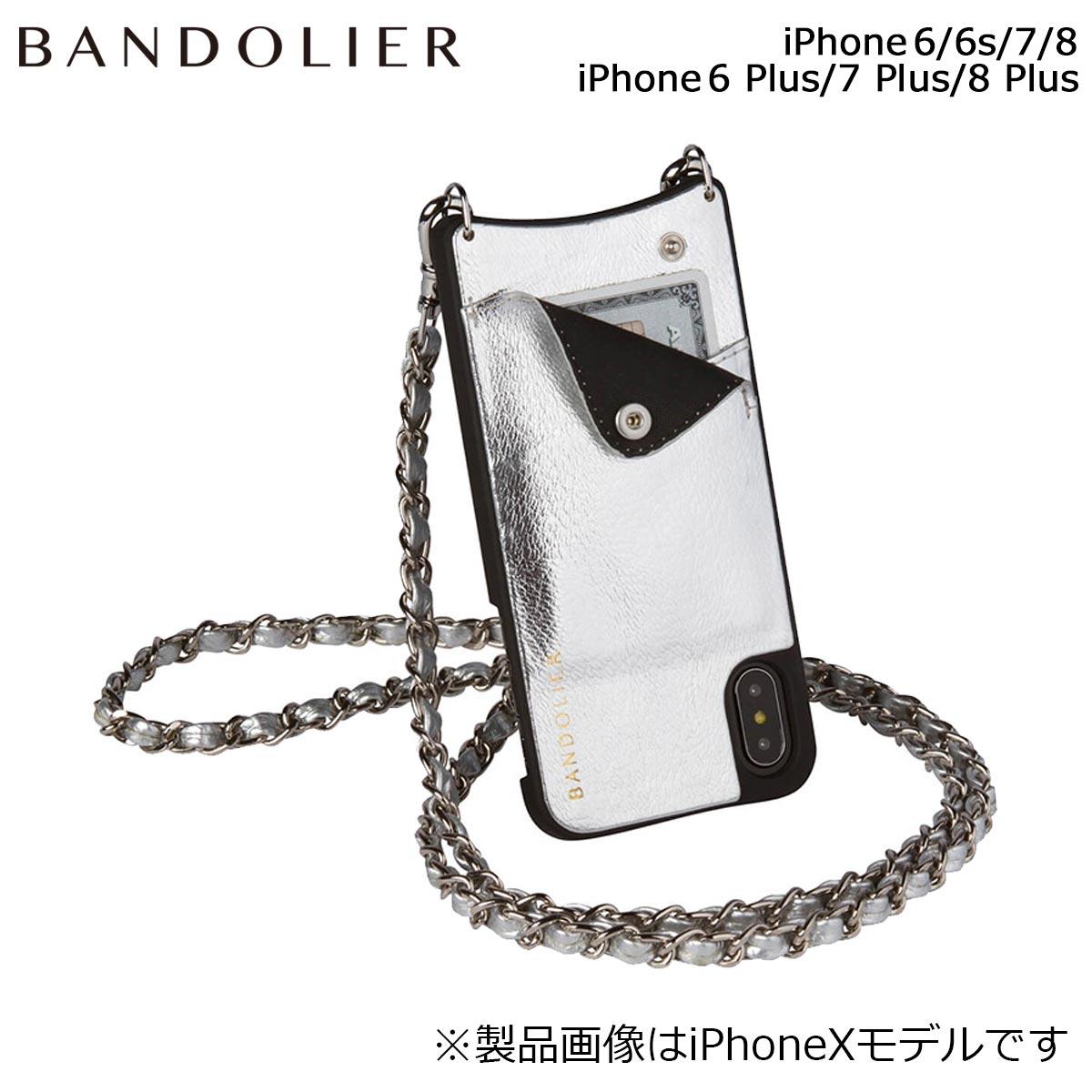 バンドリヤー BANDOLIER iPhone8 iPhone7 7Plus 6s ケース スマホ アイフォン プラス LUCY METALLIC SILVER メンズ レディース シルバー [9/14 追加入荷]