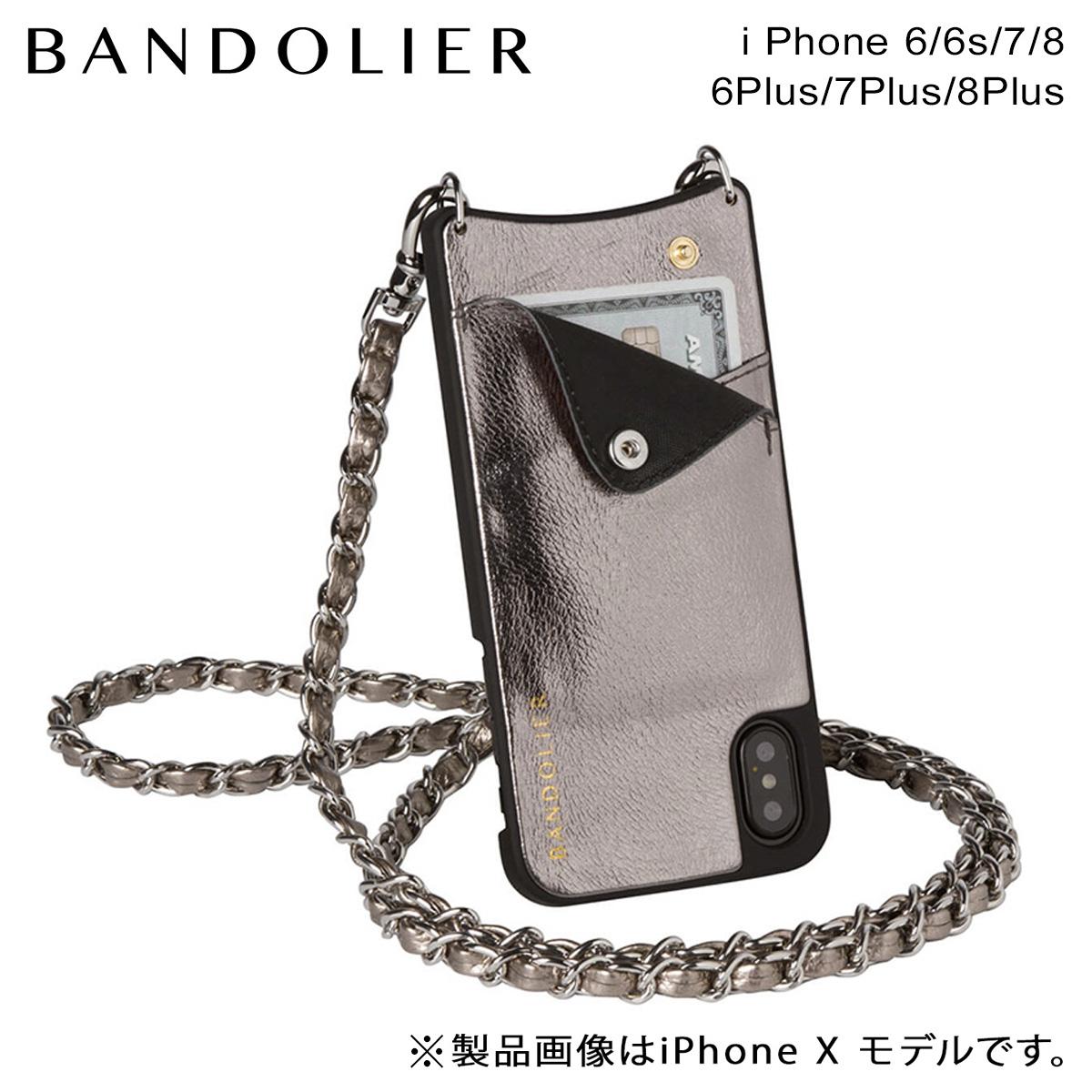 バンドリヤー BANDOLIER iPhone8 iPhone7 7Plus 6s ケース スマホ アイフォン プラス LUCY METALLIC ASH メンズ レディース アッシュ