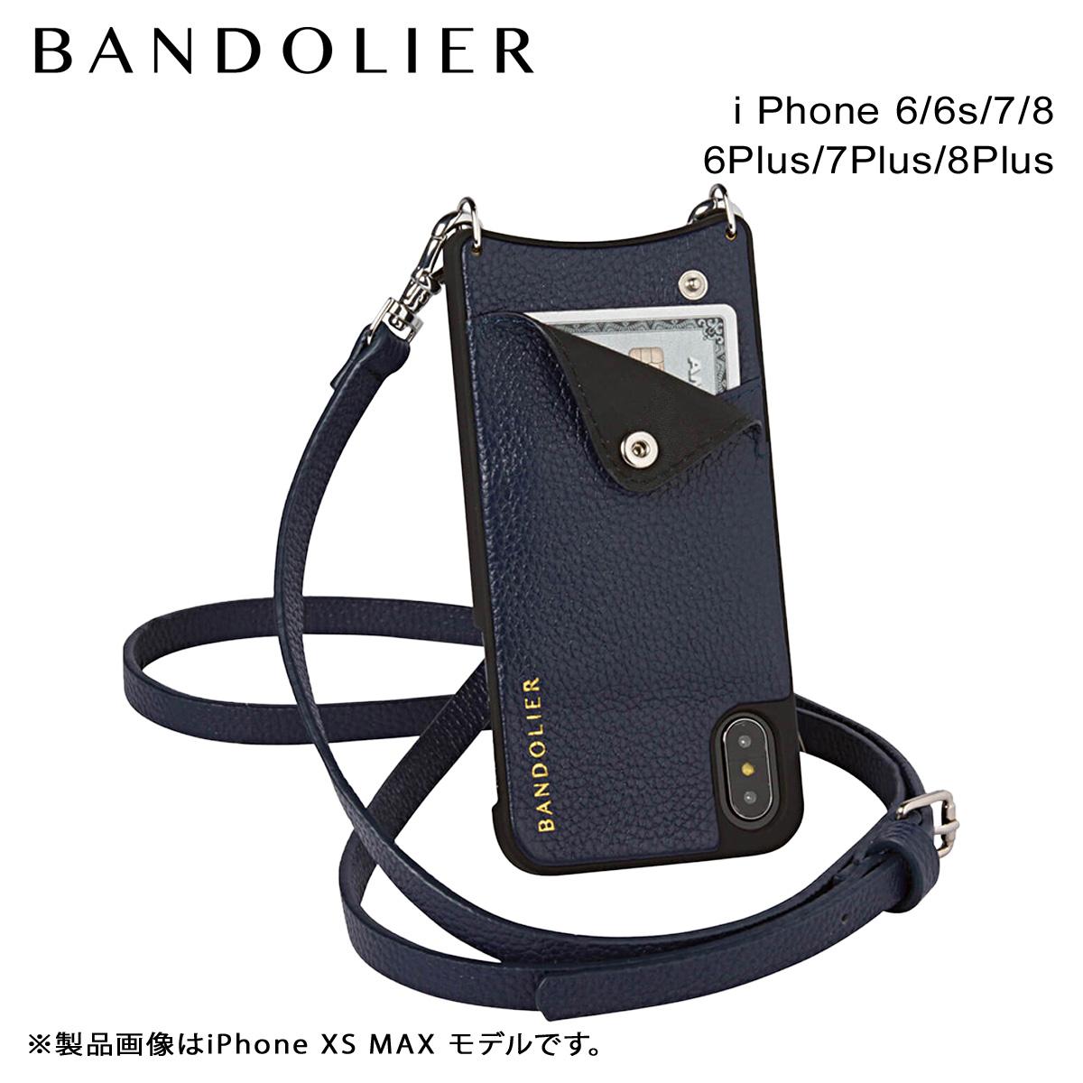 バンドリヤー BANDOLIER iPhone8 iPhone7 7Plus 6s ケース スマホ アイフォン プラス EMMA NAVY メンズ レディース ネイビー [9/14 追加入荷]