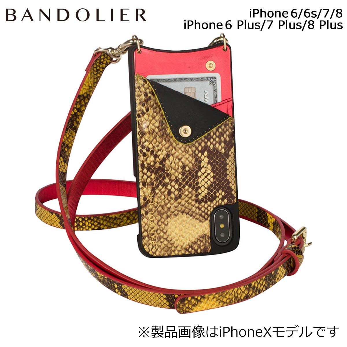 バンドリヤー BANDOLIER iPhone8 iPhone7 7Plus 6s ケース スマホ アイフォン プラス EMMA YELLOW SNAKE メンズ レディース イエロー [6/1 新入荷] 【決算セール 返品不可】