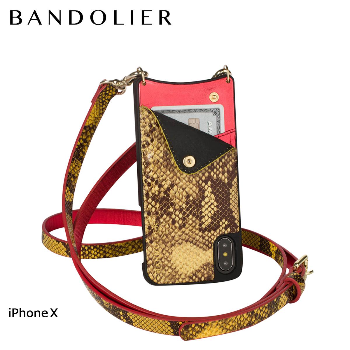 バンドリヤー BANDOLIER iPhoneX ケース スマホ アイフォン EMMA YELLOW SNAKE レザー メンズ レディース [6/1 新入荷] 【決算セール 返品不可】