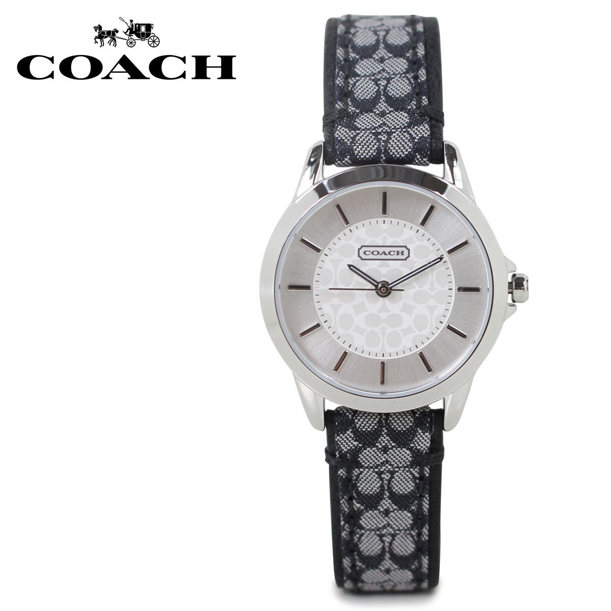 COACH コーチ 腕時計 レディース シグネチャー レザー ブラック 14501524