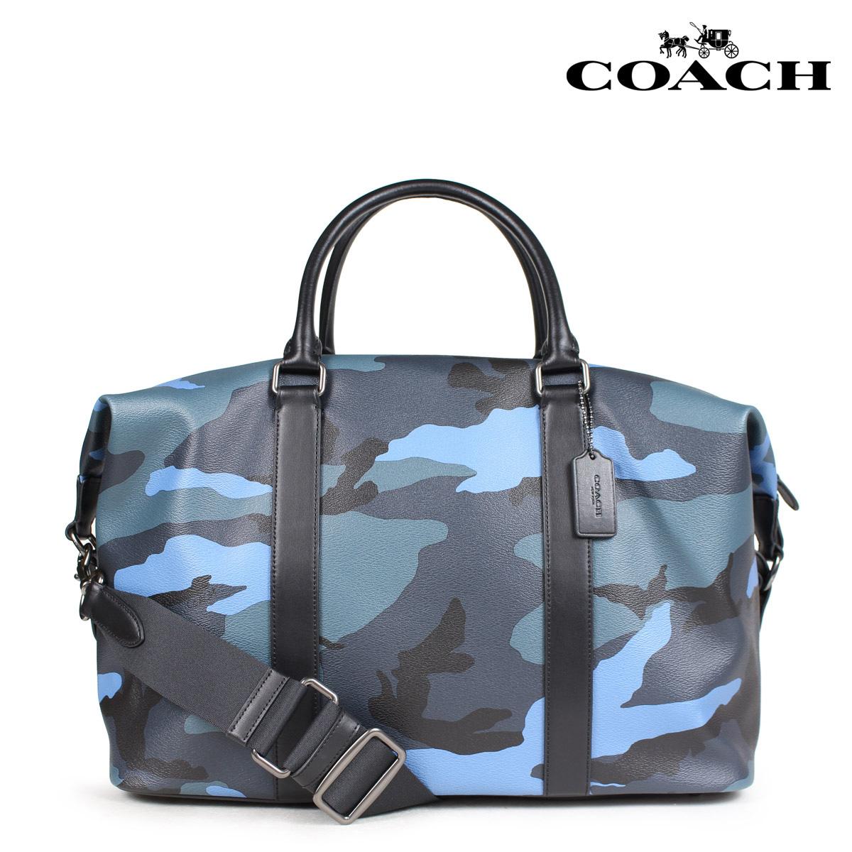 COACH コーチ バッグ ボストンバッグ メンズ レディース レザー ブルーカモ F29049