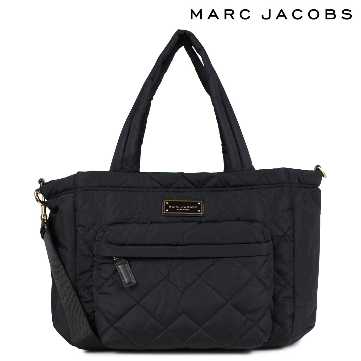 MARC JACOBS マークジェイコブス バッグ トートバッグ マザーズバッグ レディース QUILTED NYLON TOTE ブラック M0011380
