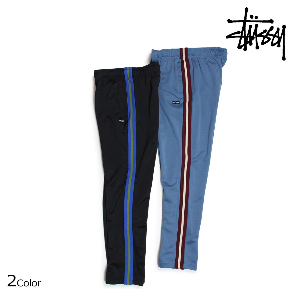 STUSSY ステューシー パンツ メンズ トラックパンツ POLY TRACK PANT ブラック ブルー 116348 【決算セール 返品不可】