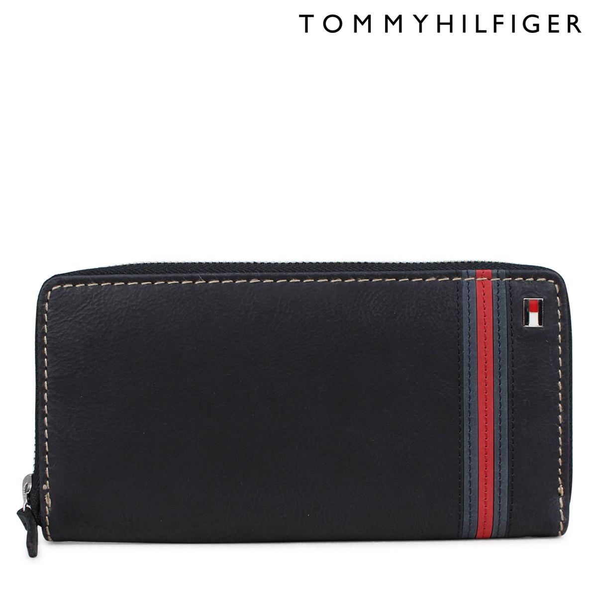 61ce030aee24d Sugar Online Shop  TOMMY HILFIGER wallet トミーヒルフィガー long wallet men round  fastener leather YALE 31TL13X012 91-4811 black  7 5 Shinnyu load  ...