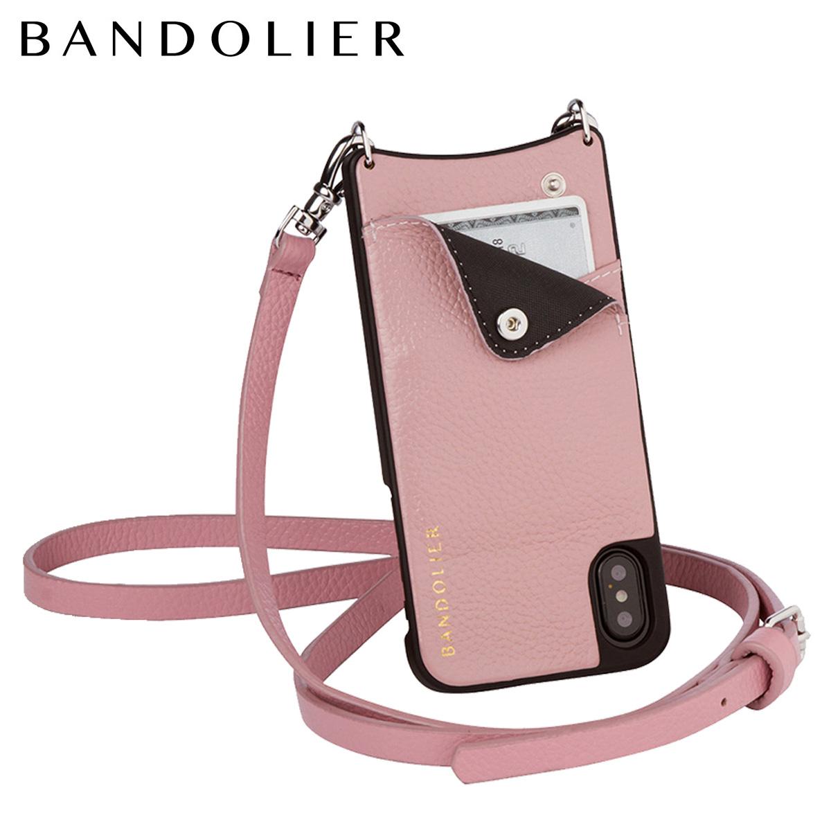 バンドリヤー BANDOLIER iPhoneX ケース スマホ アイフォン EMMA DESERT ROSE レザー メンズ レディース [7/26 新入荷]