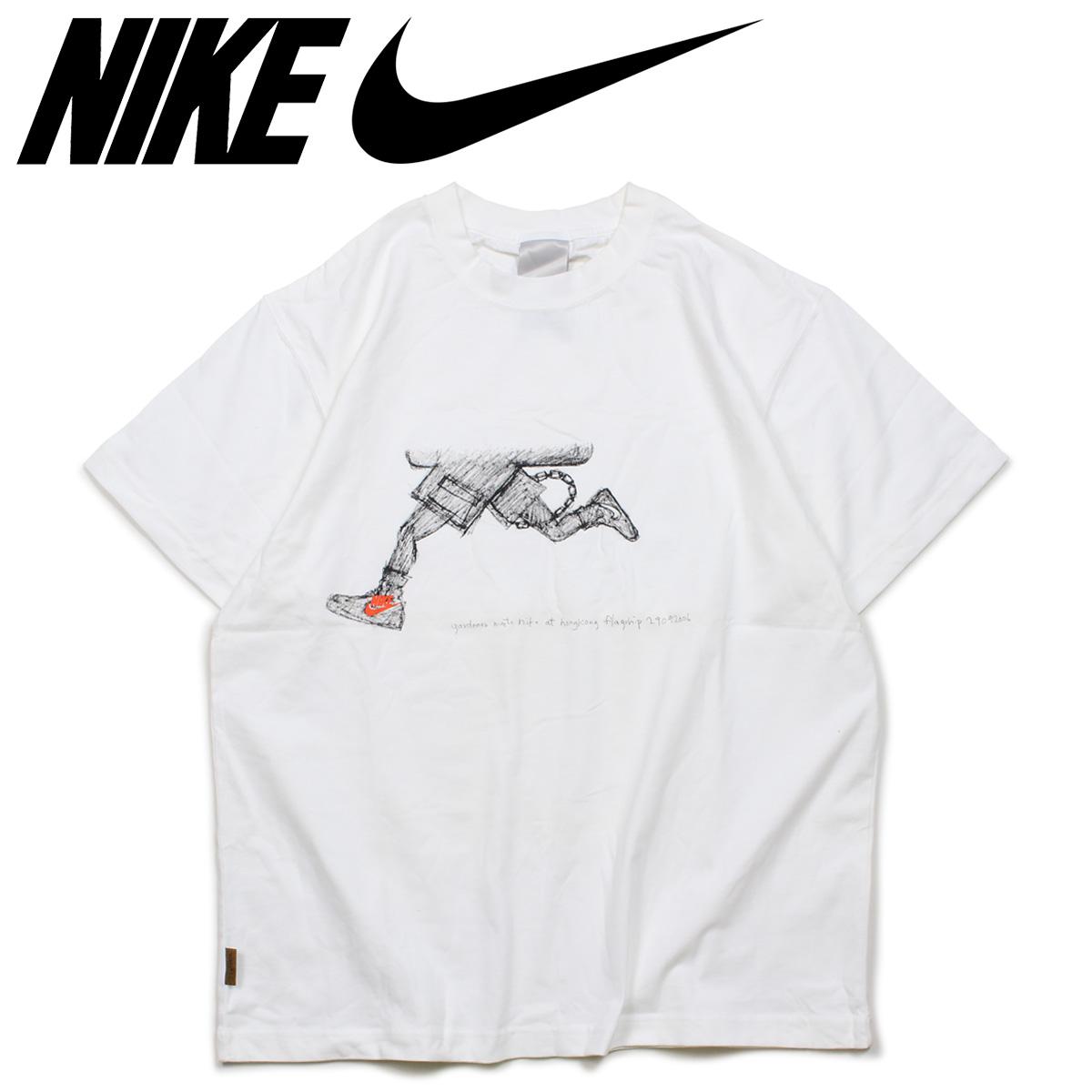 NIKE Nike SB T shirt men short sleeves GARDENER MEETS NIKE マイケルラウ MICHAEL LAU white white