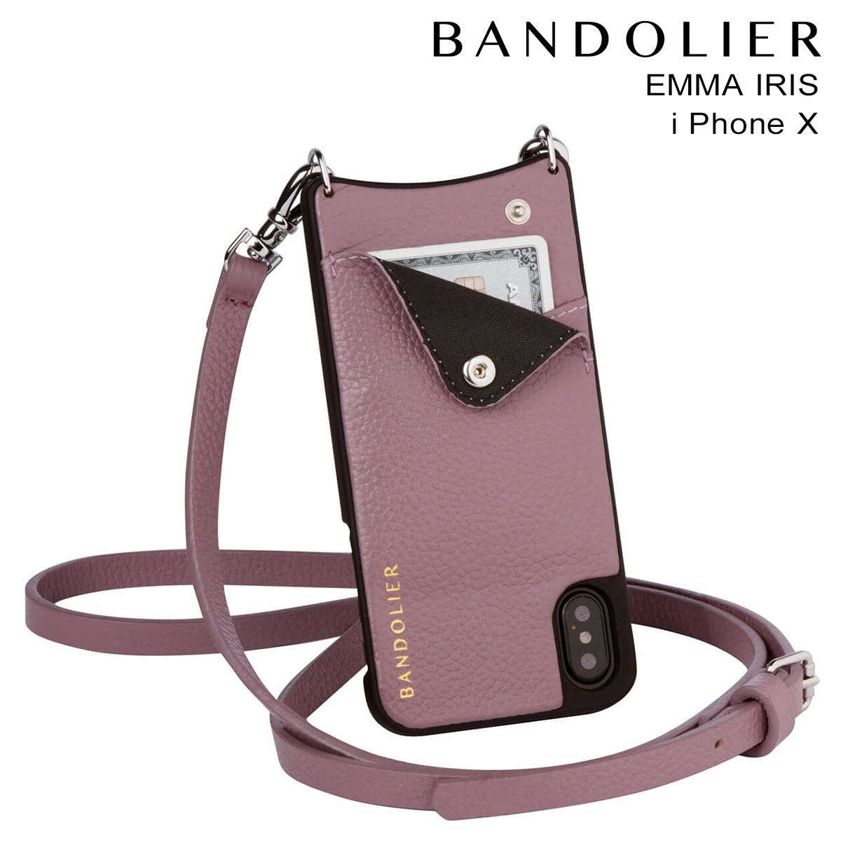 バンドリヤー BANDOLIER iPhoneX ケース スマホ アイフォン EMMA IRIS レザー メンズ レディース [9/19 新入荷]