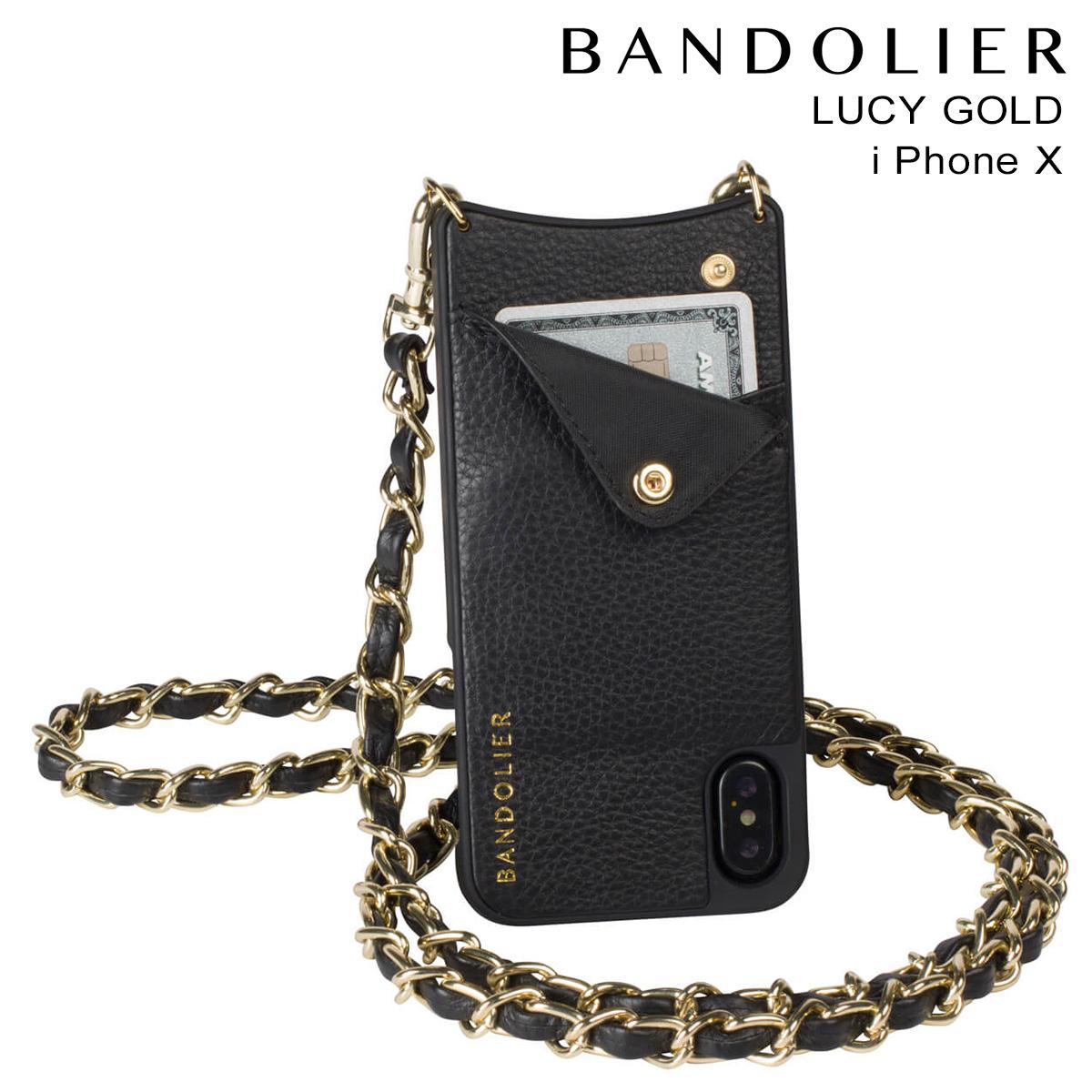 バンドリヤー BANDOLIER iPhoneX ケース スマホ アイフォン LUCY GOLD レザー メンズ レディース